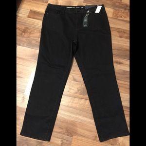 NWT Avenue 1432 Denim Straight Black Jeans -Sz 24T